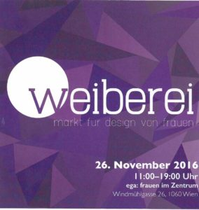 am 26. November ist Designmarkt im ega. Wir sind auch dabei